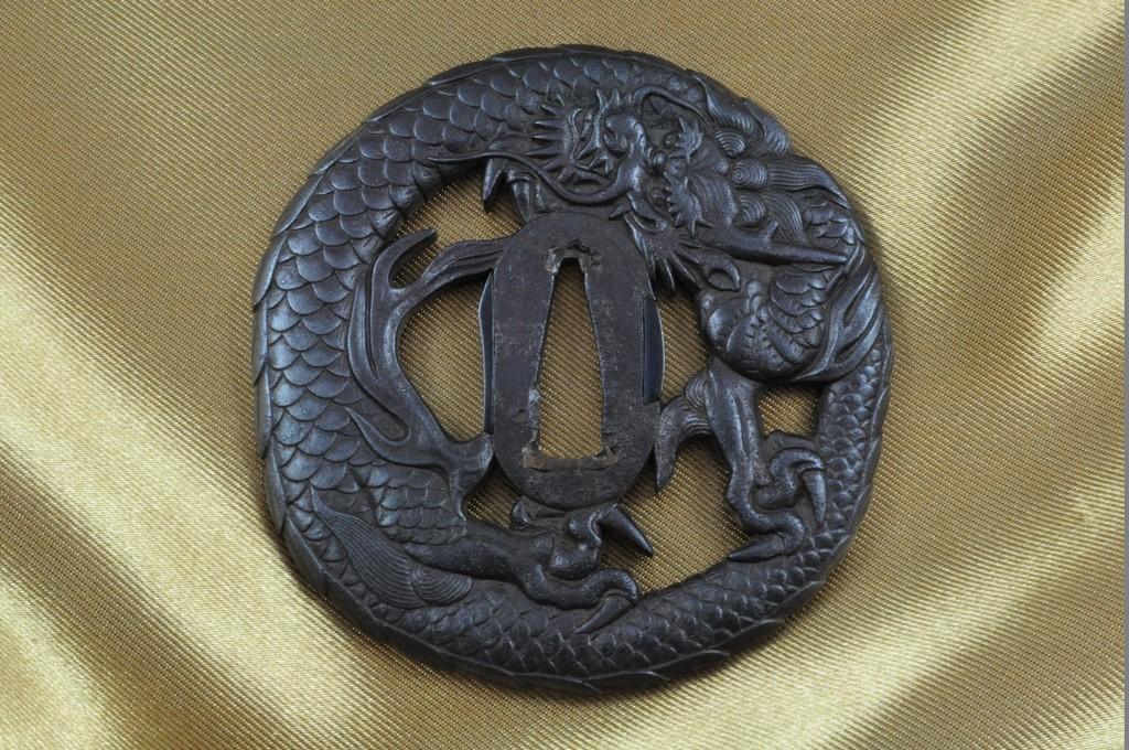 Echizen Dragon tsuba (1)