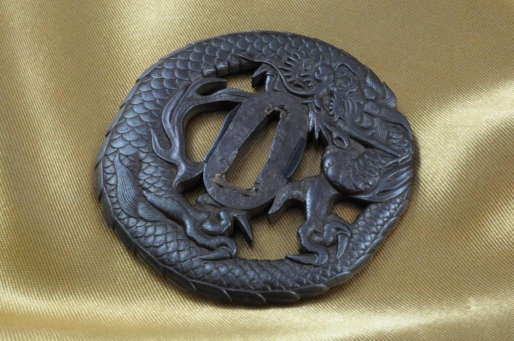 Echizen Dragon tsuba (2)