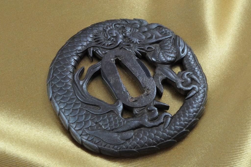 Echizen Dragon tsuba (3)