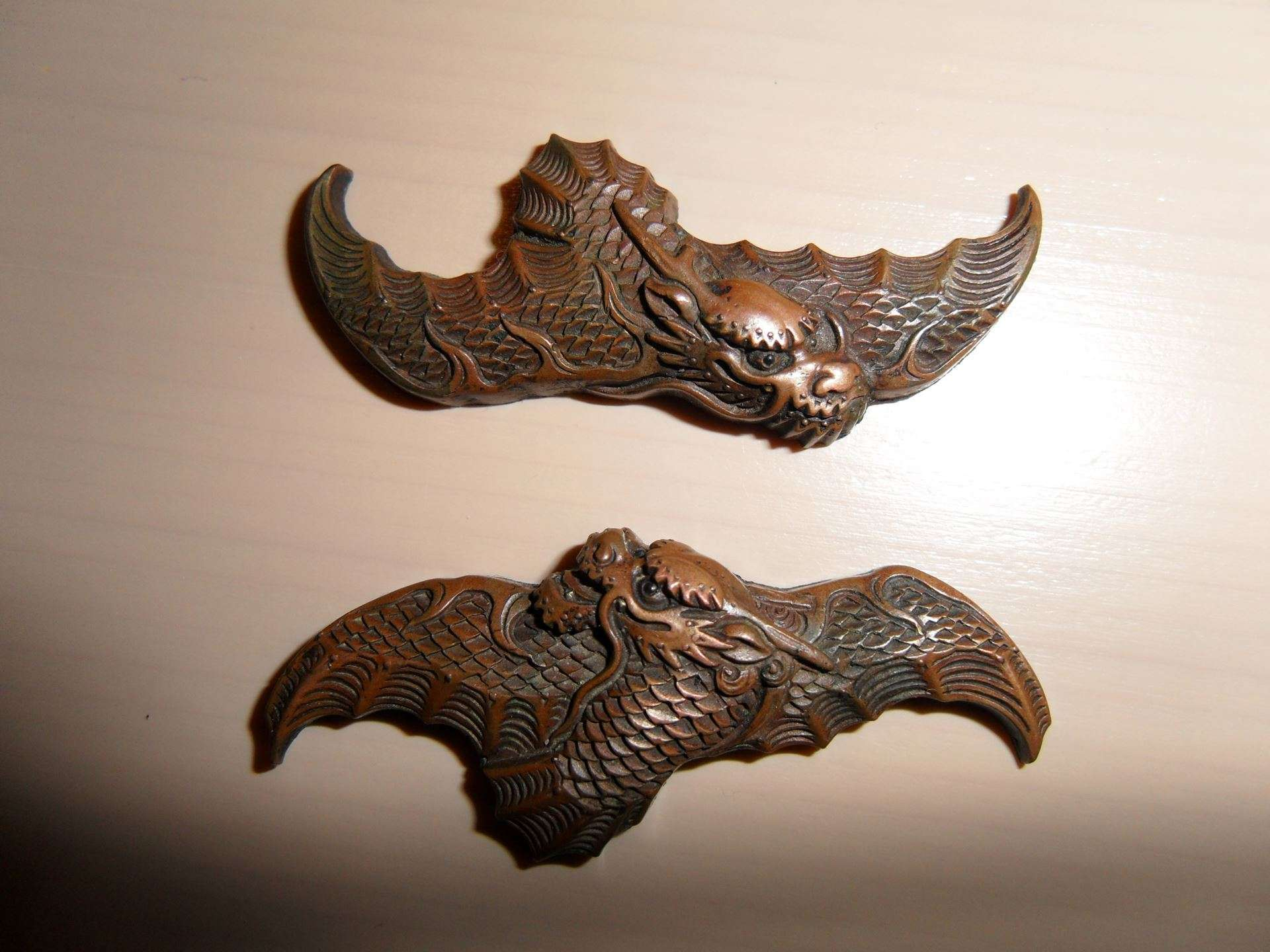 Menuki dragon copper (3)