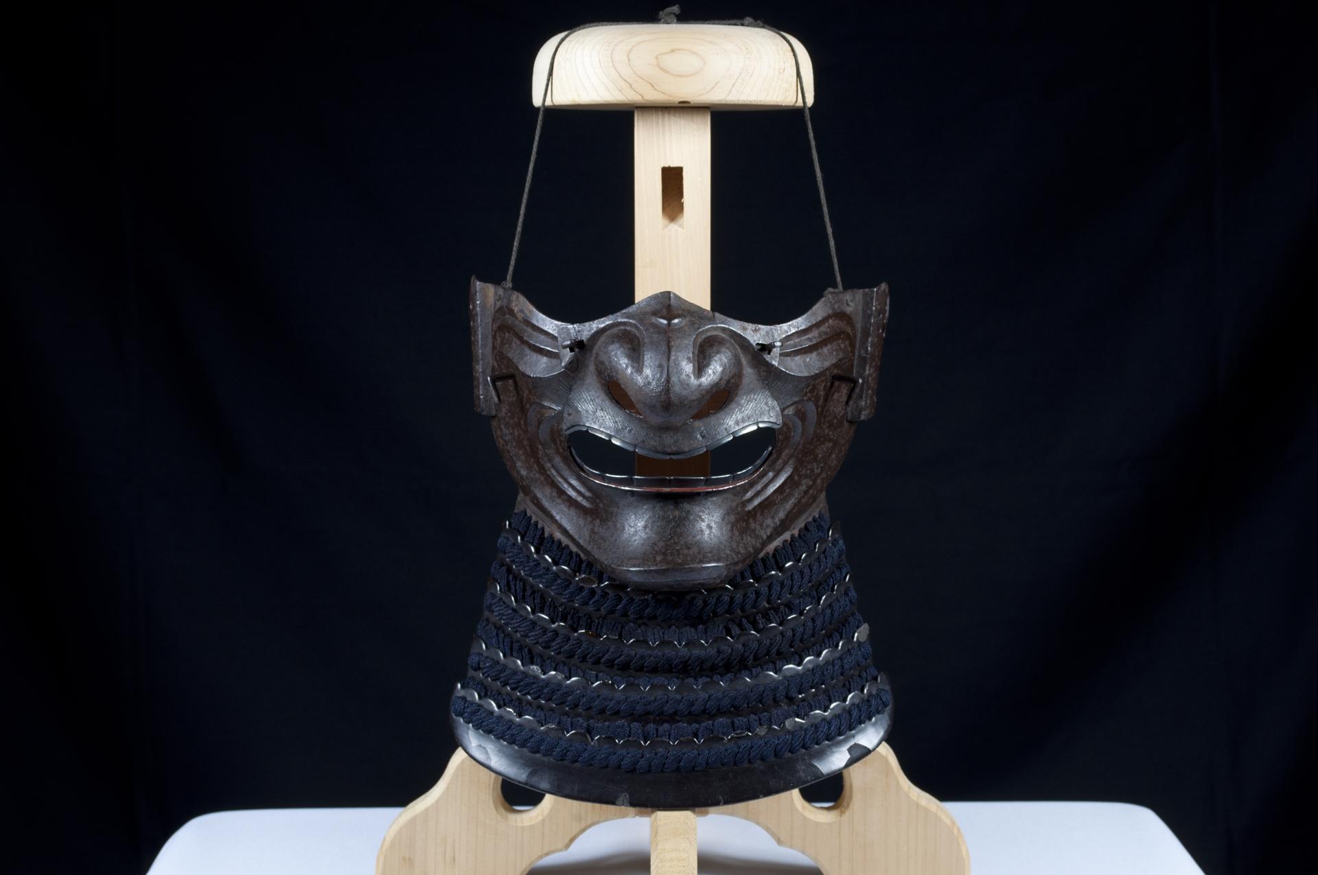 Menpo Reissei fer naturel Edo Armure Yoroi (2)
