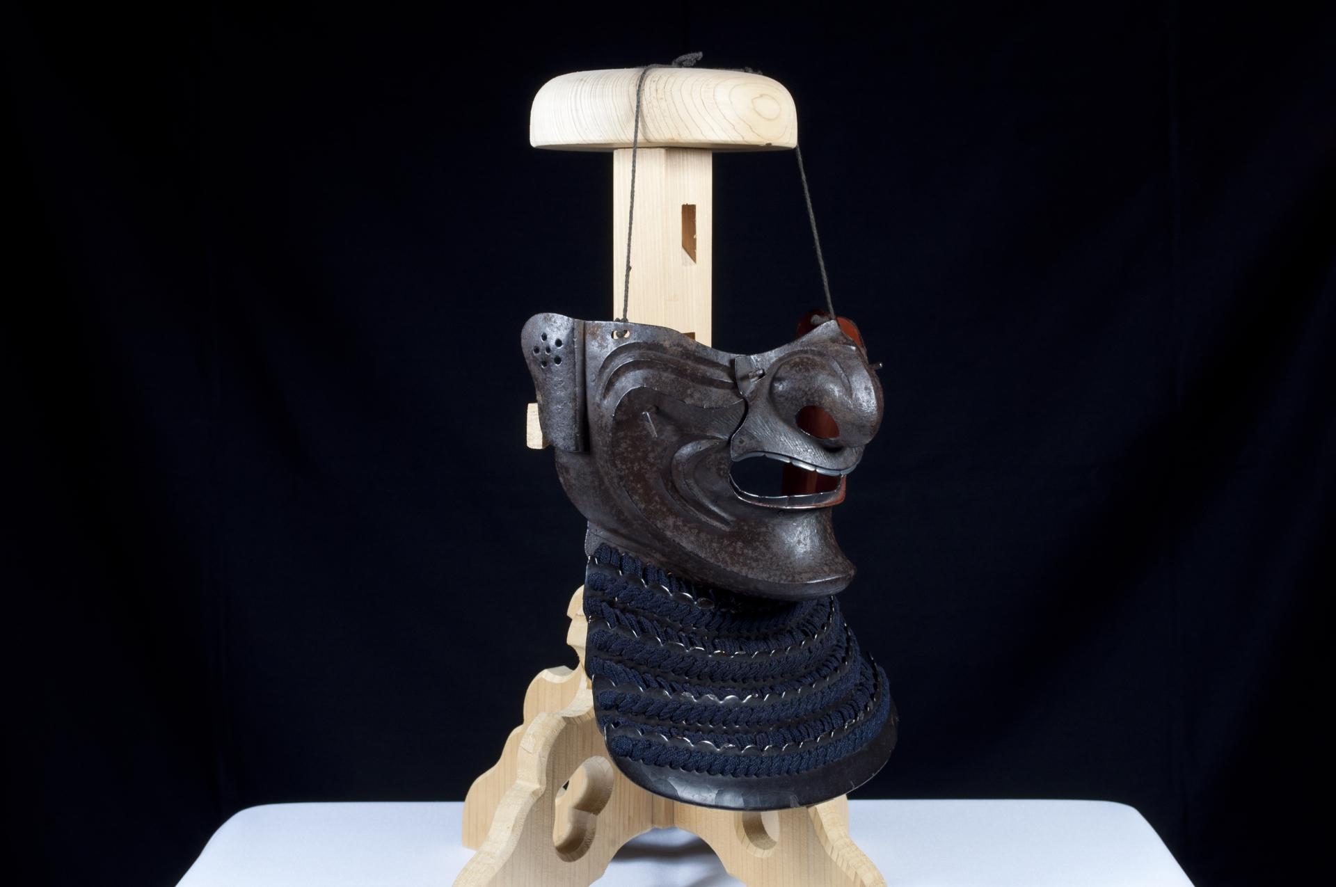Menpo Reissei fer naturel Edo Armure Yoroi (3)