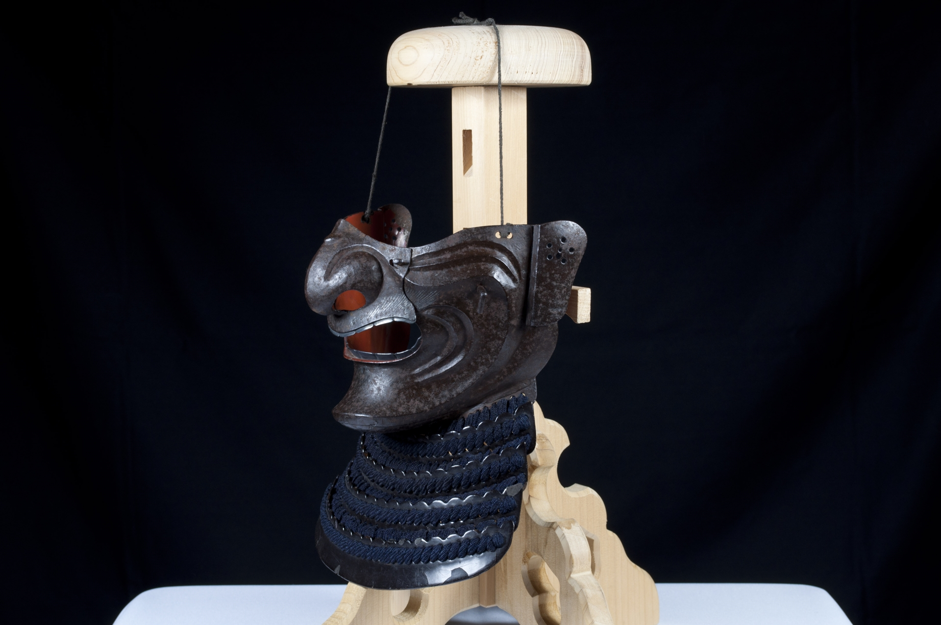 Menpo Reissei fer naturel Edo Armure Yoroi (4)