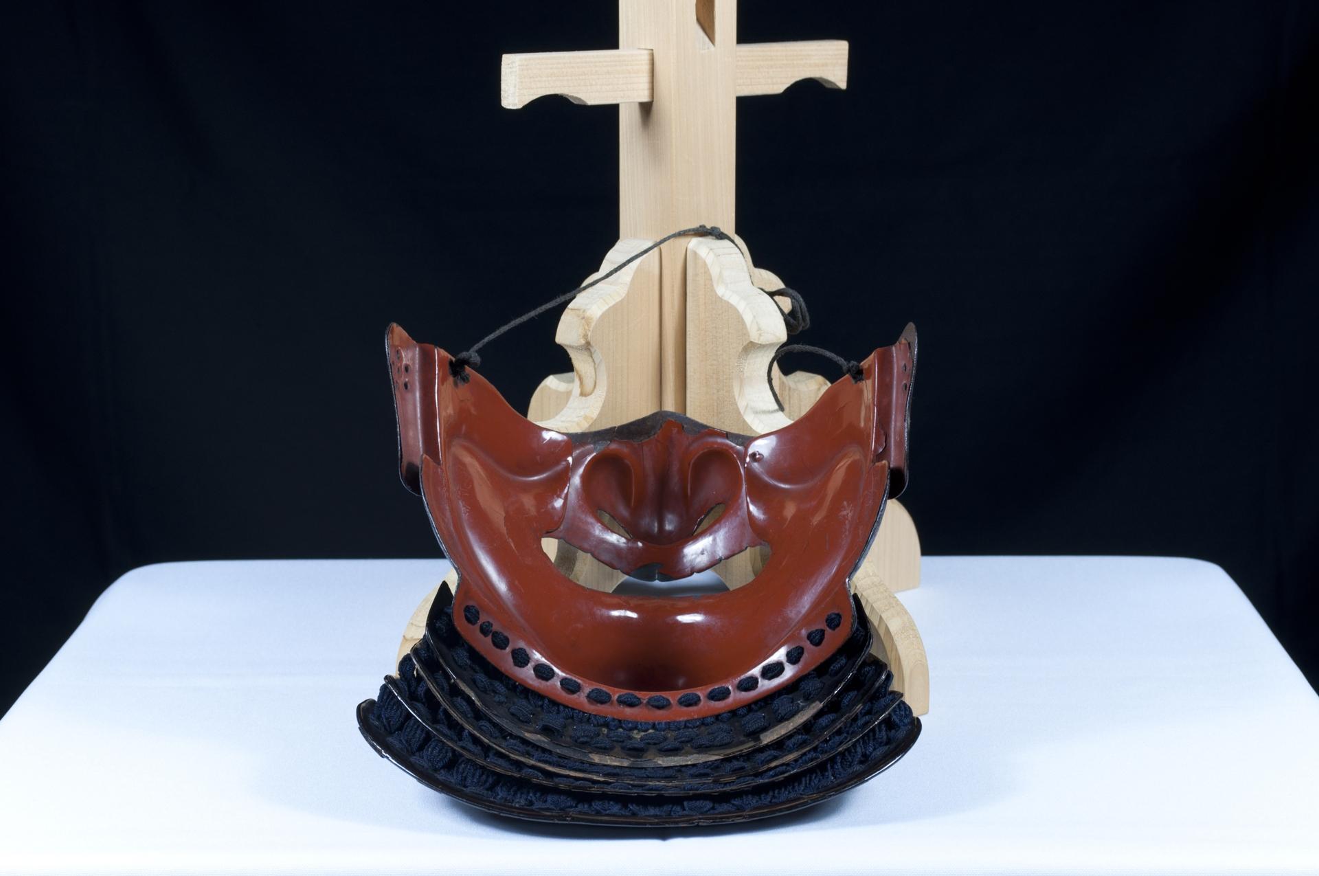 Menpo Reissei fer naturel Edo Armure Yoroi (5)