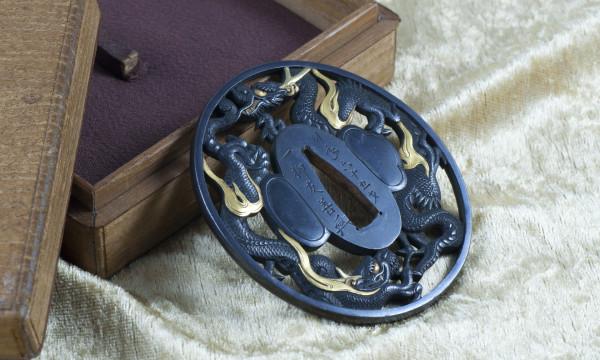 Tsuba Dragon Mito Ichiryu Tomoyoshi