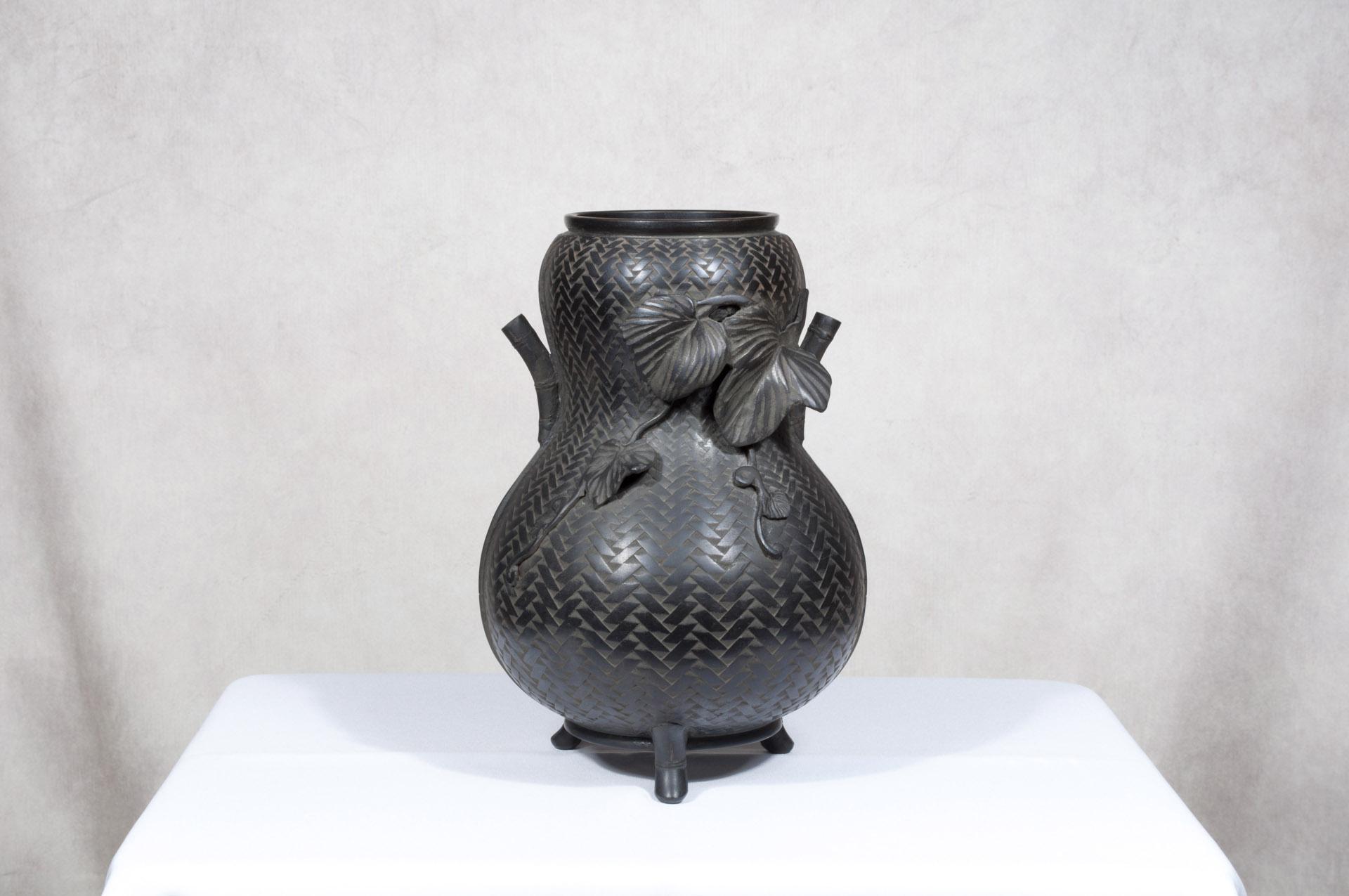 Vase japonais bronze Hyotan (1)