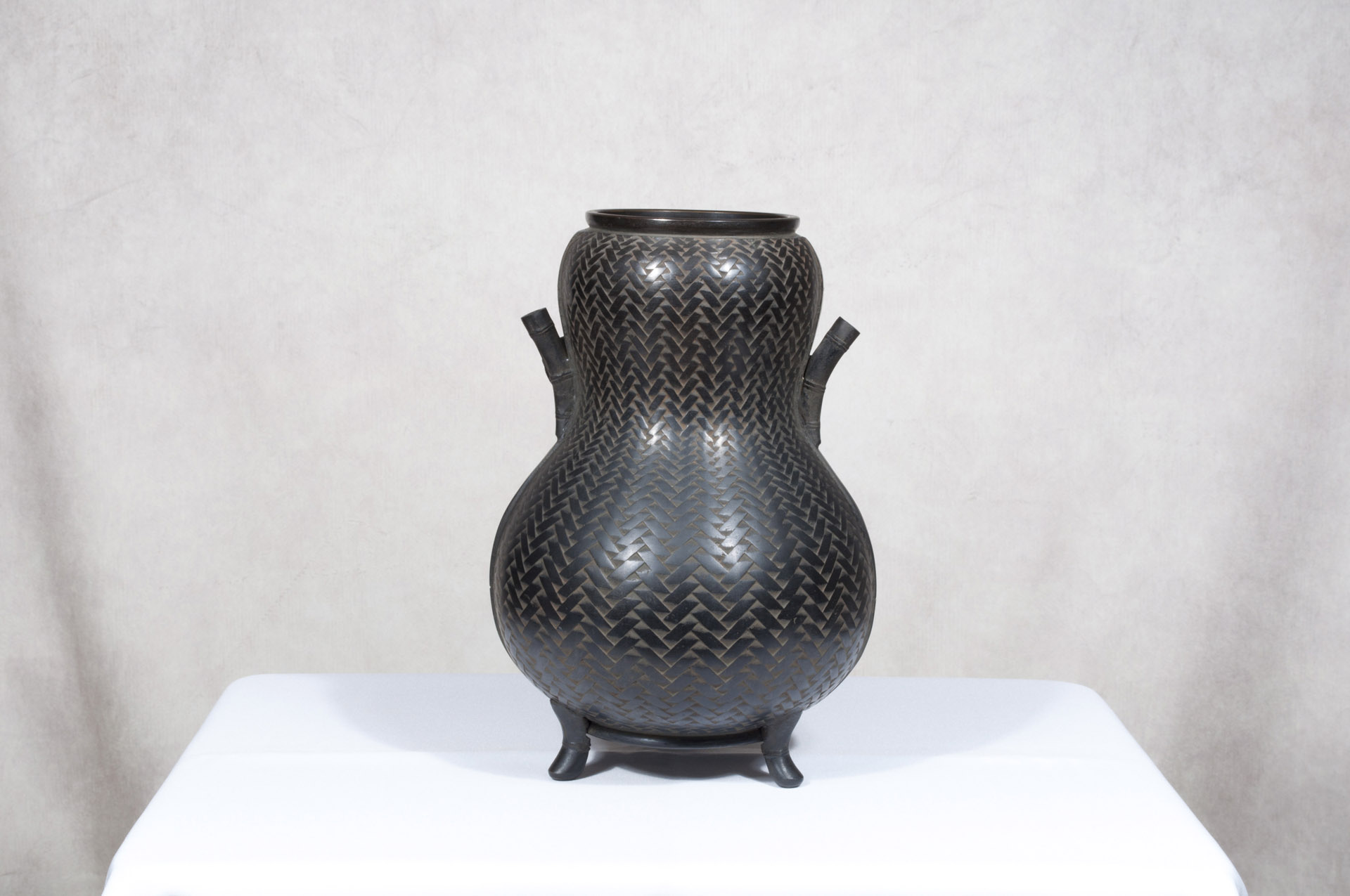 Vase japonais bronze Hyotan (3)