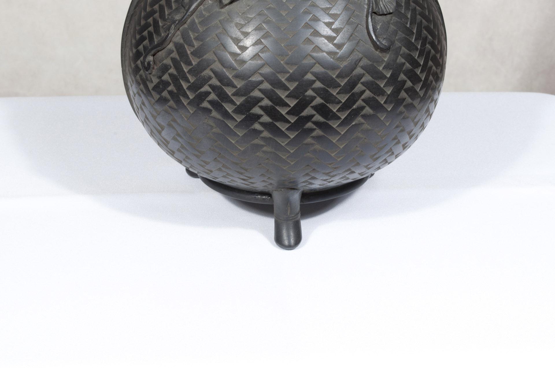 Vase japonais bronze Hyotan (6)