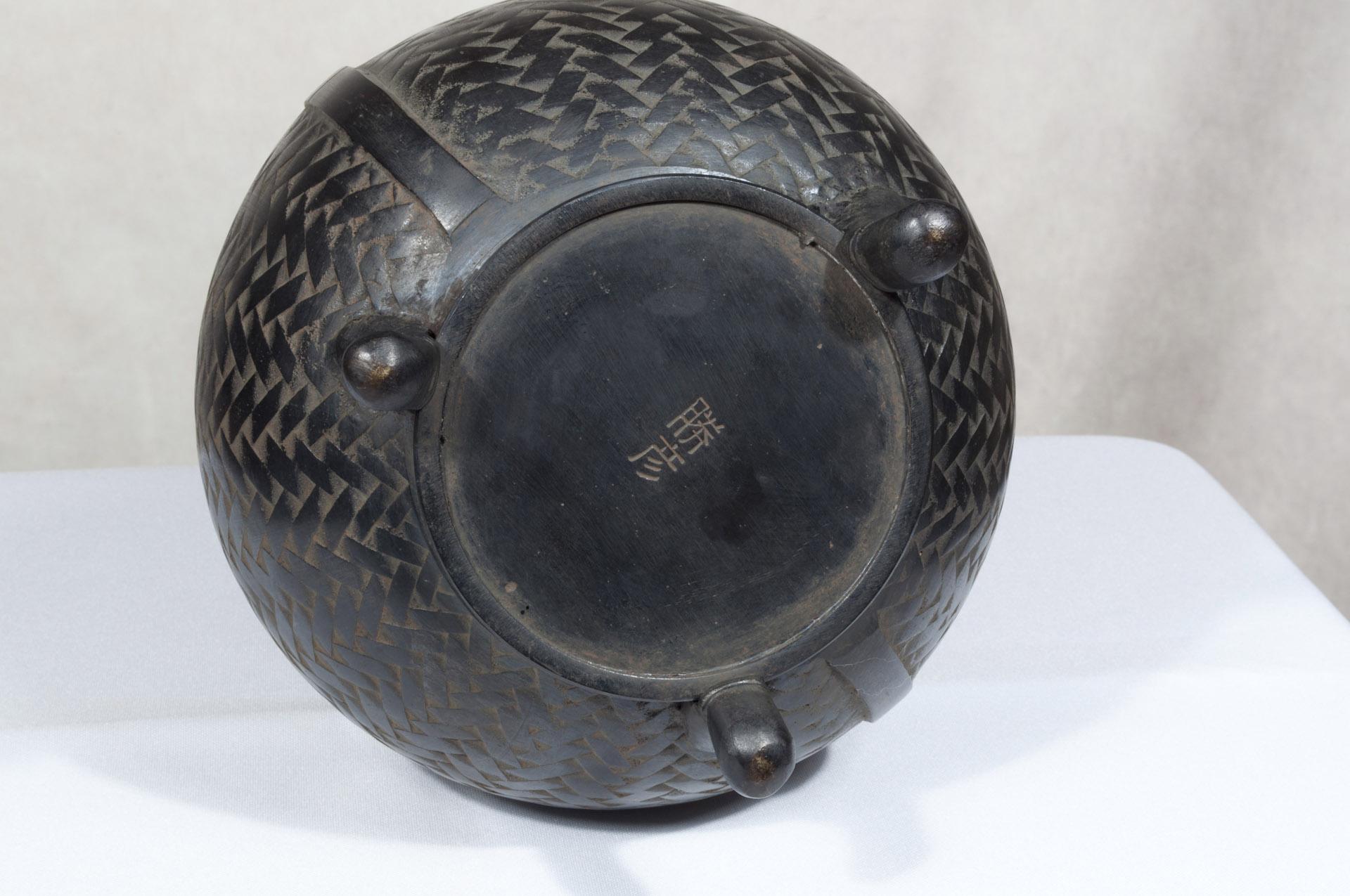 Vase japonais bronze Hyotan (7)