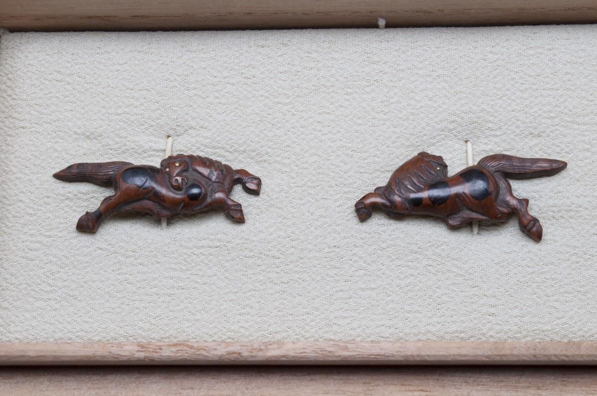 Menuki chevaux suaka shakudo japanese sword (2)