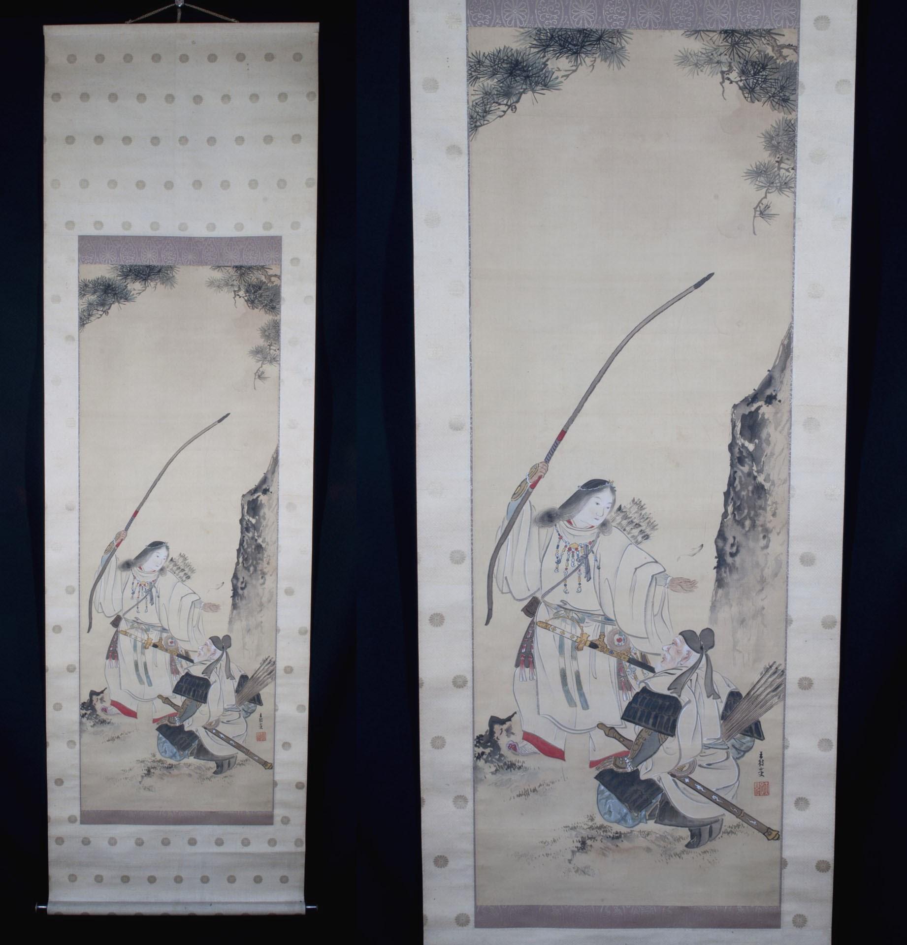 Kakejiku Kakemono samourai Amaterasu peinture japonaise (1)