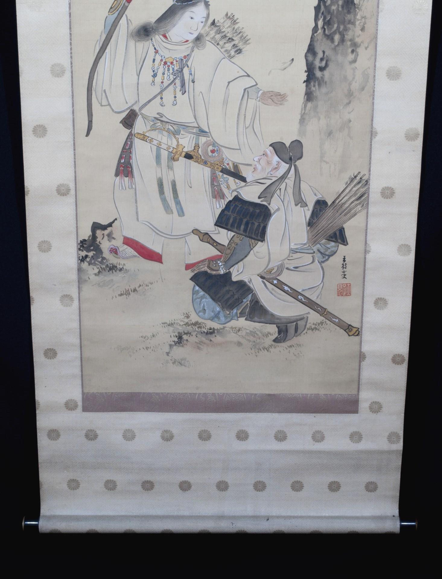 Kakejiku Kakemono samourai Amaterasu peinture japonaise (2)